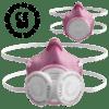 virus mask pink